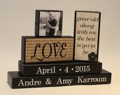 Grow Old Along With Me Personalized Wedding Gift by TimelessNotion