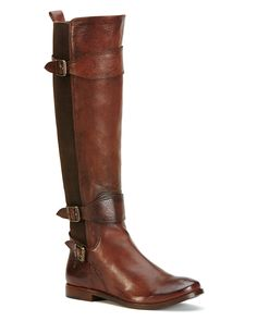 Frye Anna Gore Buckled Tall Boots | Bloomingdale's