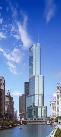 Trump Tower was a pretty addition to the Chicago Skyline! It's gorgeous inside and the restaurant, Sixteen, is to die for.