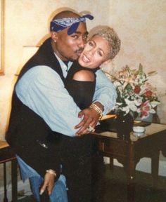 Tupac + Jada Pinkett. #Throwback