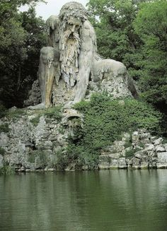Appennino by Giambologna (1577). Located in Tuscany, there's a secret room in the mountain god's head.