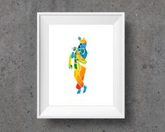 Blue Krishna Yoga Poster with Sanskrit Mantra Krishna Painting, Krishna Art, Yoga Kunst, Meditation, Printable Art, Printables, Yoga Art, Chakra Art, Oil Pastel Drawings