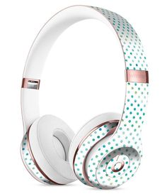 Tiny Blue-Green Watercolor Polka Dots Full-Body Skin Kit for the Beats by Dre Solo 3 Wireless Headphones