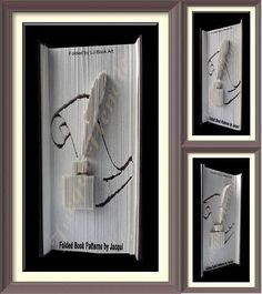 2310. Book Folding Pattern - Quill and Ink by JHBookFoldPatterns on Etsy