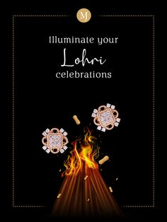 This pair of studs will add chic to your classy #Lohri ensemble. Shop for these charming #rosegold #earrings today. #MalaniJewelers Diamond Jewelry, Gemstone Jewelry, Gold Jewelry, Jewelry Ads, Jewellery, Happy Lohri, Design Process, Festivals, Schmuck