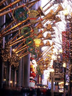 Macy's, Downtown Chicago, Christmas time. I love this place.
