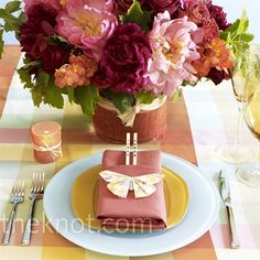 Butterfly Table Setting