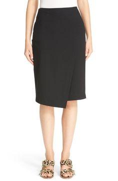 TIBI Asymmetrical Faux Wrap Skirt. #tibi #cloth #