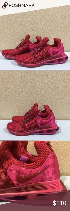 classic fit b0609 2e56a BRAND NEW Nike Shox Gravity Red Crush Floral NWOT Nike Shox Gravity Red  Crush Floral No box Flywire cables and a new lacing system create a secure  fit Twin ...
