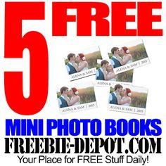 ►► 5 FREE Mini Photo Books - Exp 7/28/15 ►► #Free, #FreeGift, #FREEStuff, #Freebie ►► Freebie-Depot