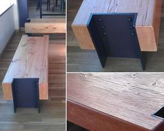 Douglas Fir Beam Bench | by Where Wood Meets Steel