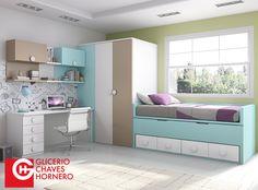 Habitaciones del catálogo FORMAS 15 de Glicerio Chaves Hornero creadas para aprovechar el espacio y mejorar la estancia de tu hijo. Nuevos colores y diseños.