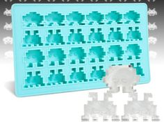 Imagine sitting in your Space Invaders chair and sipping an ice cold drink chilled by ice cubes from this Space Invaders Ice Tray. That would be the life. Or use this oven-safe silicone tray to make cookies, brownies, or chocolates (and of course ice cubes too) in the shape of space invaders for a