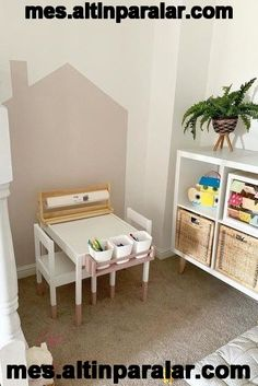 FLISAT Children's table FLISAT Children's table – IKEA, Don't you wish to spend a bundle on furniture and decoration? Baby Room Decor, Nursery Room, Boy Room, Montessori Bedroom, Ikea Table, Playroom Ideas, Kids Rooms, Console, Bedroom Ideas