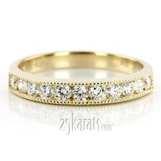 Great for your gold wedding!! 0.99 ct. Channel Set Round Cut Diamond Wedding Band