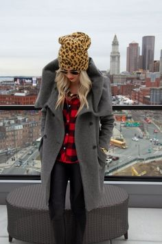Leopard print beanie | theglitterguide.com