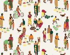 Africa collection / Wrapping paper by Tamar Dovrat, via Behance