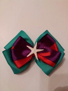 Little Mermaid inspired boutique bow $12 Www.facebook.com/AUBREYKAELOVERN