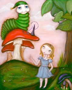Alice in Wonderland 8x10 print by acageybee on Etsy, $18.00