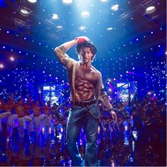 How many points for Tiger Shroff's 8 pack of awesomeness? PS: Watch out for his Munna Michael trailer tomorrow. - Tiger Shroff is 'ABS'-olutely pumped up for the Munna Michael trailer and so are we - view pic Bollywood Actors, Bollywood Celebrities, Indian Celebrities, Bollywood Fashion, Tiger Shroff Body, Tiger Dance, Michael Jackson's Songs, In Cinemas Now, Bollywood Wallpaper