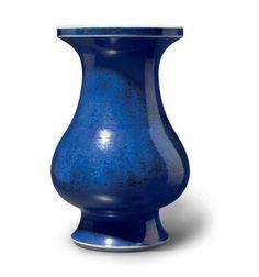 A large powder-blue-glazed vase, China, Qing dynasty, 18th century