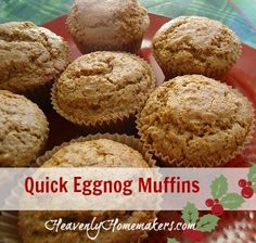 If you have eggnog on hand (especially if you made this Homemade Eggnog Recipe), you'll find that these muffins can be thrown together very quickly. They taste just like Christmas if you ask me! Quick Eggnog Muffins 2 1/4 cups whole wheat flour (I use freshly ground hard white wheat) 3/4 cup sucanat 2 teaspoons …