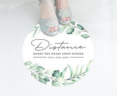 Social Distancing Floral Wedding Floor Decal 6 Feet Apart | Etsy #socialdistancing #opensigns #reopeningsigns #shopsmall #6feet #smallbusinesssigns #smallbusiness #businessdecals #floordecals #floorstickers #covidsigns #coronavirussigns #covid19floordecals #covidwedding #weddingfloordecals #socialdistancingwedding #watercolorwedding #watercolorfloral