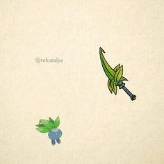 No. 043 - Oddish. #pokemon #oddish #knife #pokeapon
