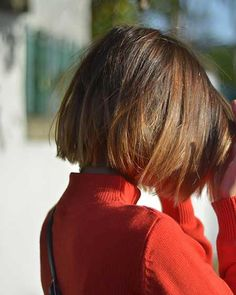 Typical Straight Bob Cut I prefer the straight bob, I don't like it curled under