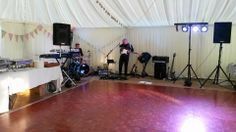 Day 169 - Set up for a gig with the Domino Band down in Tenby for a wedding