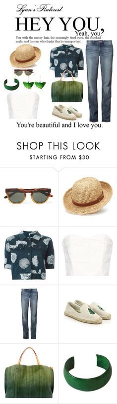 """Denim on Denim -  #3985"" by lynnspinterest ❤ liked on Polyvore featuring Barton Perreira, Chaps, Moschino, The Great, Wrangler, Soludos, Old Trend, NOVICA, Aurélie Bidermann and 3985"