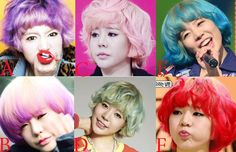 SNSD- Sunny. colorful hairstyles!