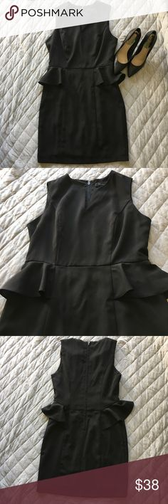 MM Couture by Miss Me Black Peplum Dress Only worn a handful of times and in EUC! This dress is so flattering and classic! Zip closure in the back with a hook and eye. Lined. Best suited for a size 2 or 4. Make me an offer! Miss Me Dresses Mini