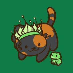 Shop The Kitty and the Frog neko atsume t-shirts designed by Ellador as well as other neko atsume merchandise at TeePublic. Disney Kiss, Tiana Disney, Disney Day, Mermaid Cat, Cat Attack, Neko Atsume, Frog Design, Kitty, Fan Art