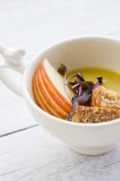 Green Lentil and Apple-Brown Butter Soup @Jen Laceda | Tartine and Apron Strings