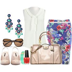 """""""Summer At The Office - Plus Size"""" by alexawebb on Polyvore"""