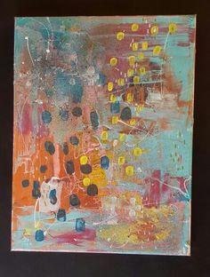 #blahblahblah smeared hobbytex, gesso, acrylic dabs, spray paint, markers