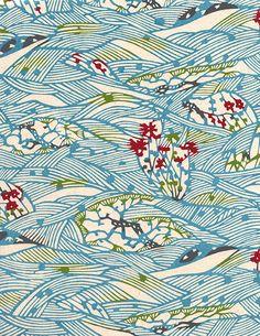 The Japanese Paper Place - Katazomeshi - Japanese Textiles, Japanese Patterns, Japanese Prints, Japanese Design, Motifs Textiles, Textile Patterns, Textile Prints, Print Patterns, Textile Fabrics