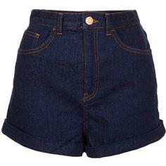 TOPSHOP MOTO Indigo Mom Shorts