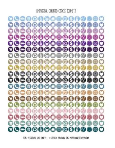 Universal Colored Circle Icons Page 2 from myplannerenvy.com