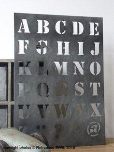 Pochoir Alphabet GM, déco atelier, Ib Laursen