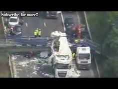 Aerial footage shows extent of chaos after M20 bridge collapse