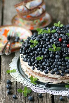 "ensphere: "" Banaani ja mustikatega tort / Banana and blueberry cake by sillev on Flickr. """