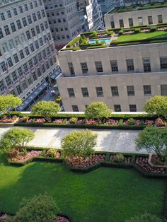 Rooftop gardens at the Rockefeller Center in New York.