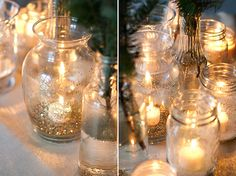 Gold is definitely the colour of New Year's Eve! Learn how to make this sparkling centerpiece on the cheap here.