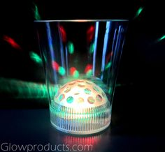 Light Up LED Disco Glass will brighten up any Christmas Party!! http://glowproducts.com/products/BPGWLS