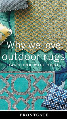 Versatile, easy-to-clean and fade-resistant – outdoor rugs are a must-have.