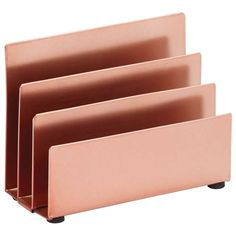 Each day there's a new life hack video on social networking. I discovered this picture of rose gold office supplies and I only adore the idea! Gold Room Decor, Rose Gold Decor, Gold Bedroom, Make Up Storage, Desk Storage, Filing Storage, Cubbies, Gold Office Supplies, Rose Gold Rooms