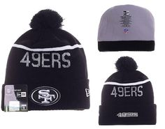 Mens   Womens San Francisco 49ers New Era 2016 NFL Sideline Sport Knit  Beanie Hat With Pom Pom - Black   White 355918683704