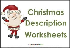 Free Christmas Description Writing Worksheets. Repinned by SOS Inc. Resources. Follow all our boards at pinterest.com/sostherapy for therapy resources.